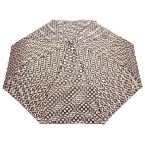FabSeasons Brown Printed 3 fold fancy Automatic Umbrella