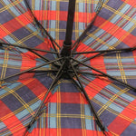 FabSeasons Unisex Blue Checks Print 3 Fold Fancy Manual Umbrella
