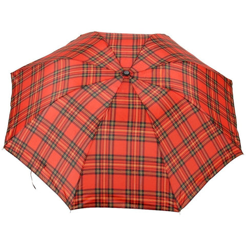 FabSeasons Unisex Red Checks Print 3 Fold Fancy Manual Umbrella