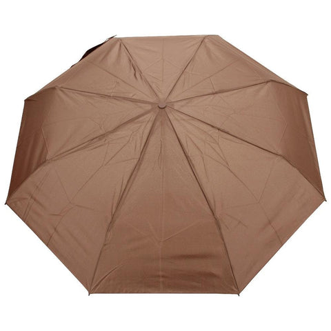 FabSeasons Brown Solid 3 Fold Fancy Umbrella
