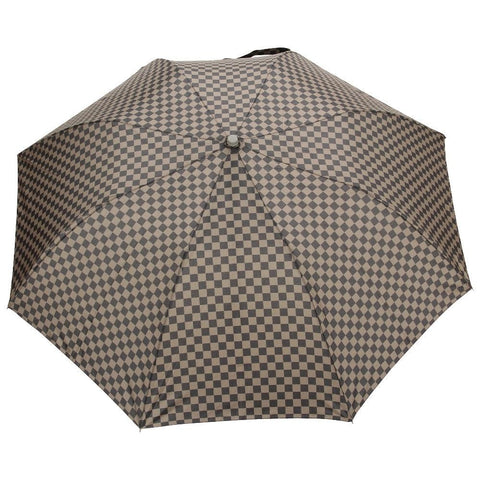 FabSeasons Green Checkered Printed 2 fold Fancy Automatic Umbrella