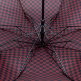 FabSeasons Maroon Checkered Printed 2 fold Fancy Automatic Umbrella