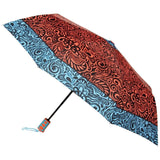 FabSeasons Orange Symmteric Print 3 fold Umbrella