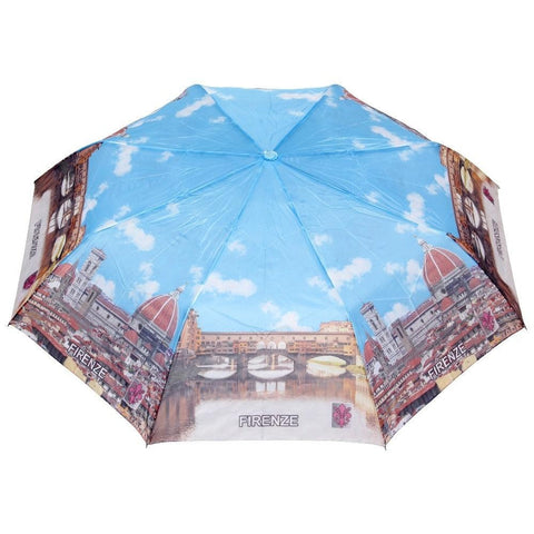 FabSeasons Firenze Printed 3 fold Umbrella for Rains and all Seasons