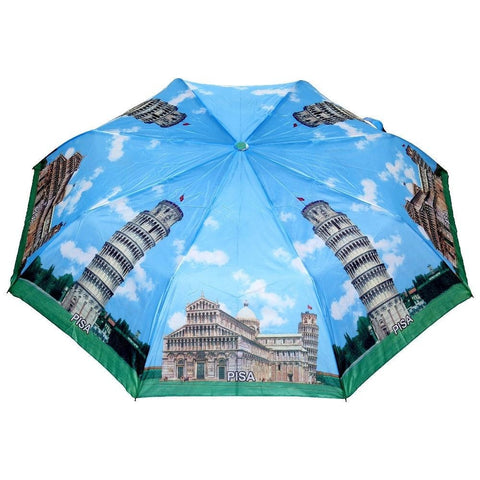 FabSeasons Pisa Printed 3 fold Umbrella for Rains and all Seasons