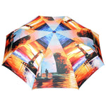 FabSeasons Lake side Digital Printed 3 fold Umbrella