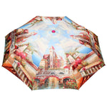 FabSeasons Beautiful Village Digital Printed 3 fold Umbrella