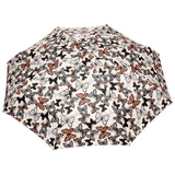 FabSeasons 5 fold Floral Printed Small Compact Manual Brown Umbrella