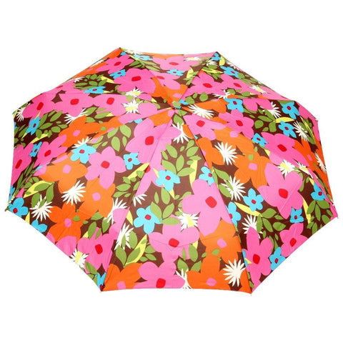 FabSeasons 5 fold Floral Printed Small Compact Manual Green Umbrella