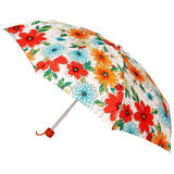 FabSeasons 5 fold Floral Printed Small Compact Manual Orange Umbrella
