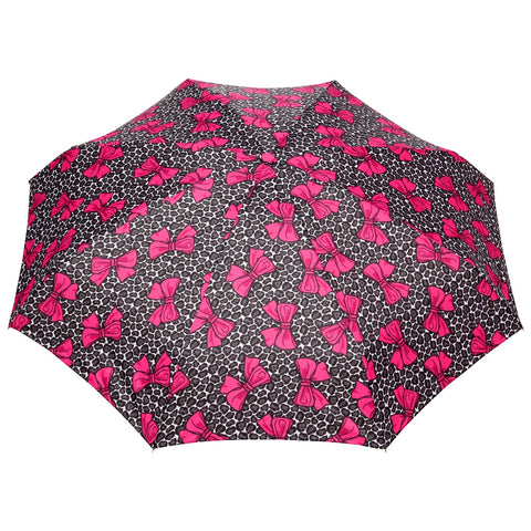 FabSeasons 5 fold Floral Printed Small Compact Manual Pink Umbrella