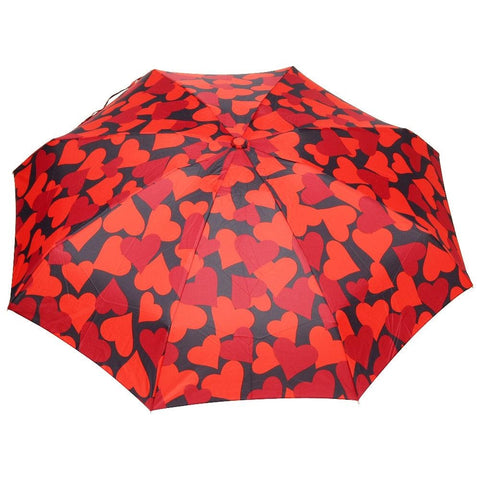 FabSeasons 5 fold Floral Printed Small Compact Manual Red Umbrella