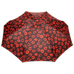 FabSeasons 5 fold Red Lips Printed Small Compact Manual Umbrella