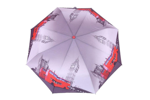 FabSeasons London City Digital Printed 3 Fold Automatic Umbrella for Rains, Summer and all Seasons