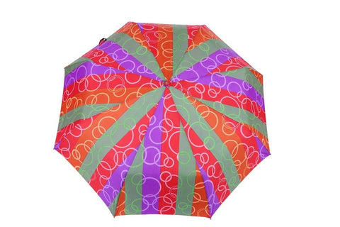 FabSeasons Abstract Red Circle Printed Automatic 3 fold Umbrella