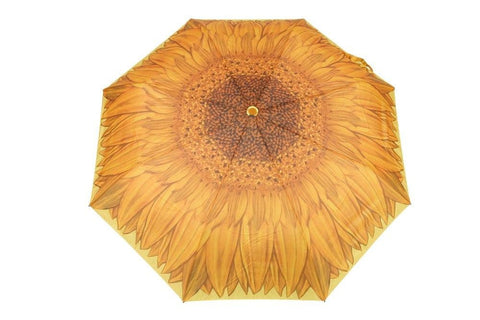 FabSeasons Yellow Floral Digital Printed Semi Automatic 3 fold Umbrella