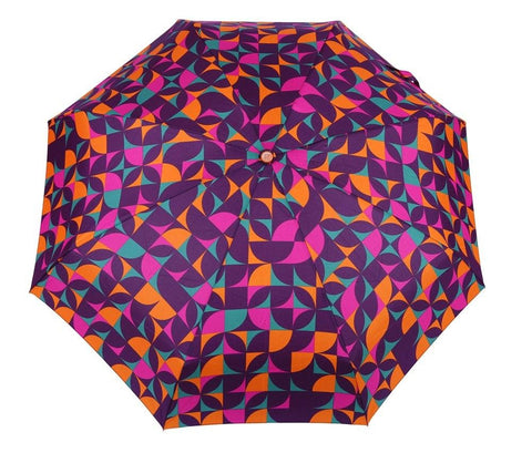 FabSeasons 5 fold Digital Printed Small Compact Manual Orange Umbrella