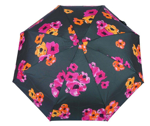 FabSeasons 5 fold Floral Digital Printed Small Compact Manual Green Umbrella