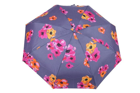 FabSeasons 5 fold Floral Digital Printed Small Compact Manual Grey Umbrella