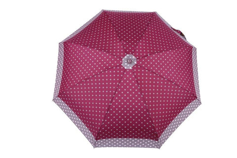 FabSeasons 5 fold Grey Polka Dots Digital Printed Small Compact Manual Umbrella
