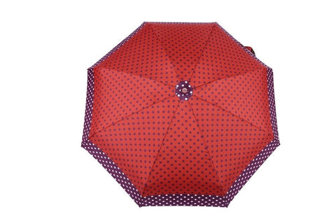 FabSeasons 5 fold Purple Polka Dots Digital Printed Small Compact Manual Umbrella