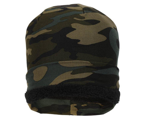 Fabseasons Green Camouflage Beanie cap
