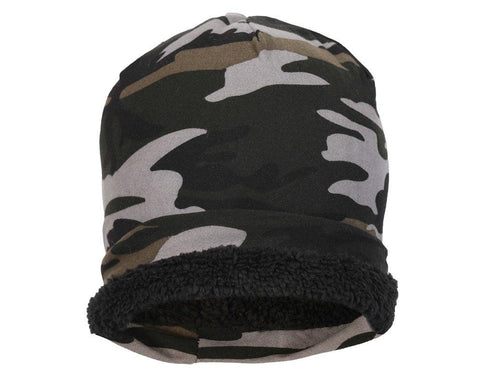 Fabseasons Grey Green Camouflage Beanie cap