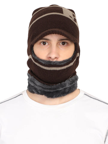 Acrylic Wollen Balaclava, Beanie / Skull Cap & Muffler for winters. Pack of 1