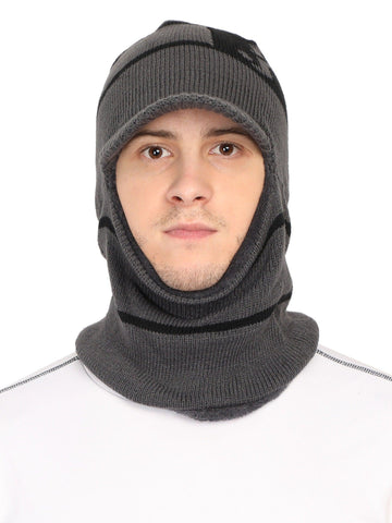 Acrylic Wollen Balaclava, Beanie / Skull Cap & Muffler for winter, Pack of 1