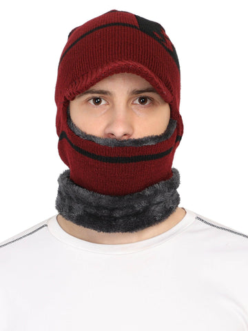 Acrylic Wollen Balaclava, Beanie / Skull Cap & Muffler for winters, Pack of 1
