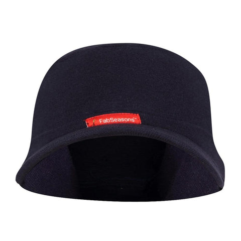 Fabseasons Solid Blue Cotton Winter Skull Cap