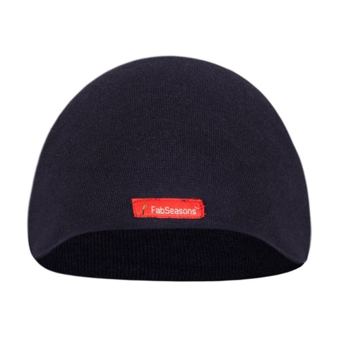 Fabseasons Plain Blue Cotton Winter Skull Cap