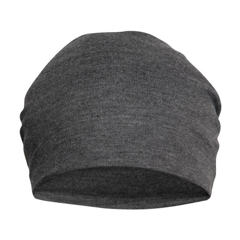 Fabseasons Plain Dark Grey Cotton Slouchy Beanie and Skull Cap