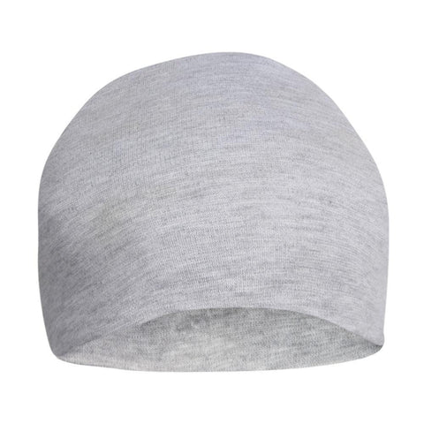 Fabseasons Plain Grey Cotton Slouchy Beanie and Skull Cap