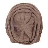 FabSeasons Unisex Brown Acrylic Woolen Slouchy Beanie and Skull Cap for Winters