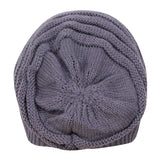 FabSeasons Unisex Grey Acrylic Woolen Slouchy Beanie and Skull Cap for Winters