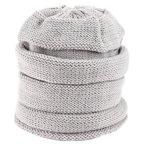 FabSeasons Unisex Light Grey Acrylic Woolen Slouchy Beanie and Skull Cap for Winters