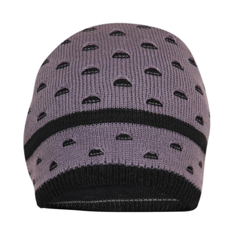 FabSeasons Unisex Gray Acrylic Woolen Slouchy Beanie and Skull Cap for Winters
