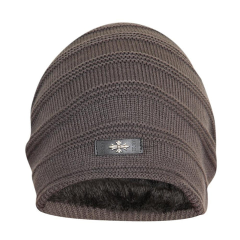 FabSeasons Unisex Dark Gray Acrylic Woolen Slouchy Beanie and Skull Cap for Winters