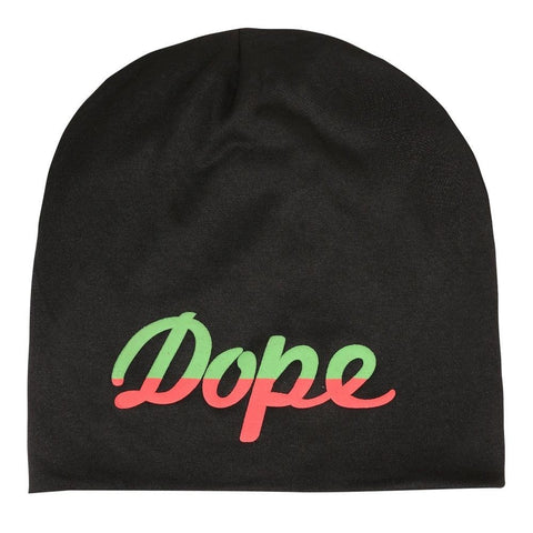 Fabseasons DOPE Black Cotton Slouchy Beanie Cap