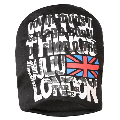 Fabseasons Black London Swag Cotton Slouchy Beanie Cap