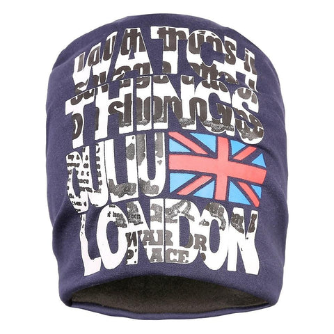 Fabseasons Blue London Swag Cotton Slouchy Beanie Cap