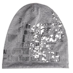 Fabseasons Live Life Dark Grey Cotton Slouchy Beanie Cap