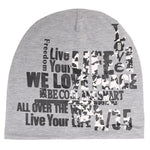 Fabseasons Live Life Grey Cotton Slouchy Beanie Cap