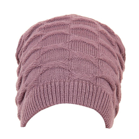 Fabseasons Solid Grey Acrylic Woolen Winter Beanie and Skull Cap