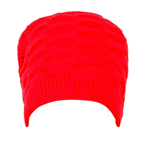 Fabseasons Solid Red Acrylic Woolen Winter Beanie and Skull Cap
