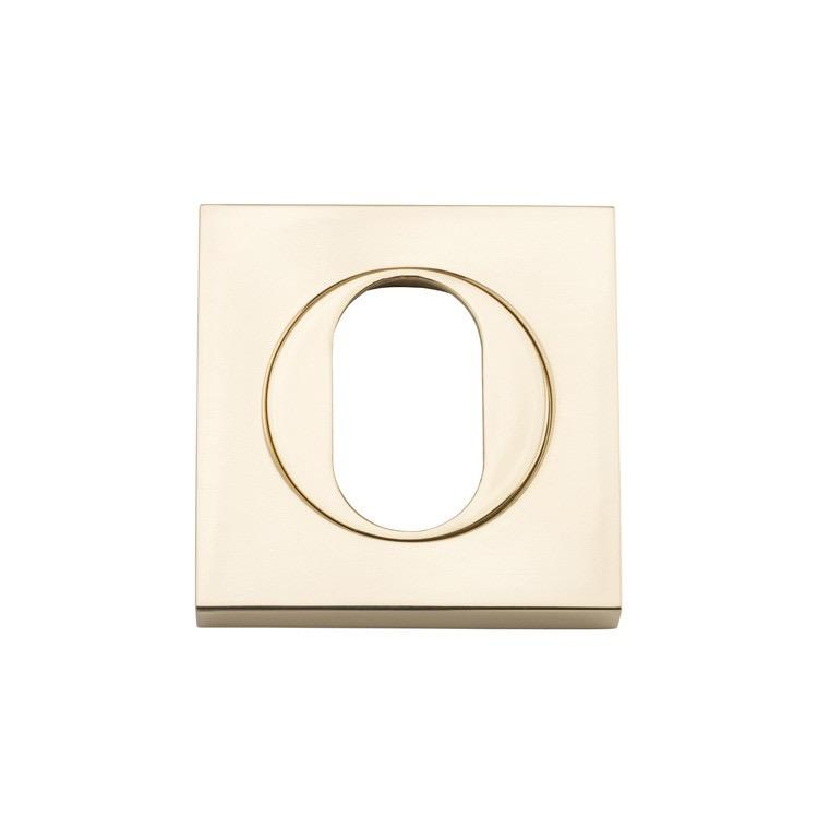 Escutcheon Oval Square Pair Polished Brass H52Xw52Xp10mm LOCKS, LATCHES & HINGES HARDWARE