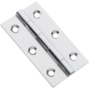 Cabinet Hinge Fixed Pin Chrome Plated H63xW35mm