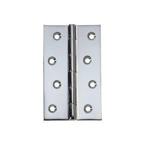 Hinge Fixed Pin Chrome Plated H100xW60mm