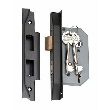 Mortice Lock 5 Lever Rebated Antique Copper CTC57mm Backset 46mm LOCKS, LATCHES & HINGES HARDWARE